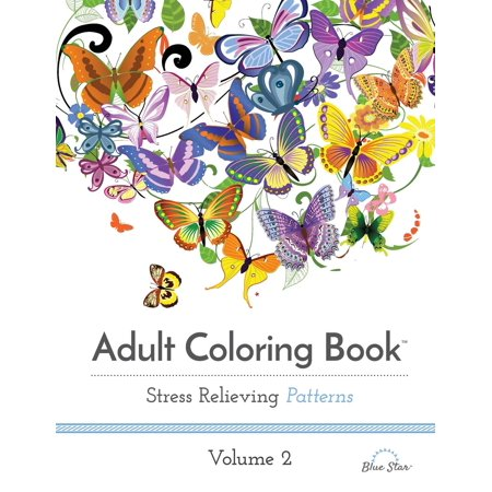 Adult Coloring Book: Stress Relieving Patterns, Volume 2 (Paperback)](Custom Coloring Pages)