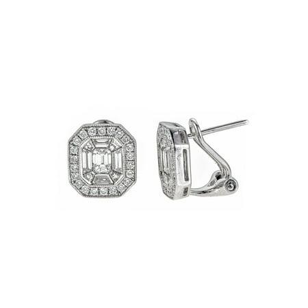 Aod Jewelry 18k White Gold 1 5 8ct Tdw Diamond Stud Clip Earrings