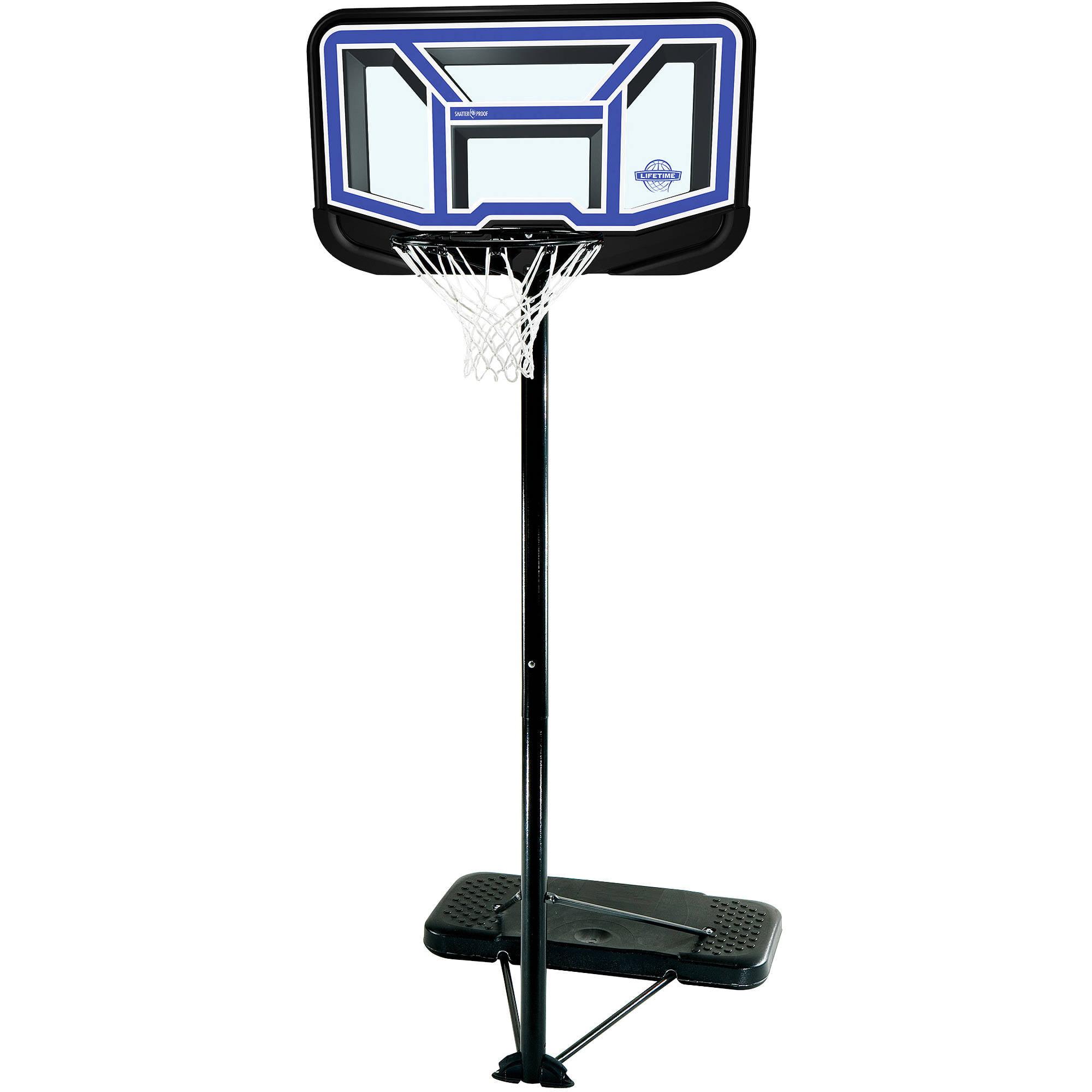 "Lifetime 44"" Shatter-Proof Portable Basketball System"