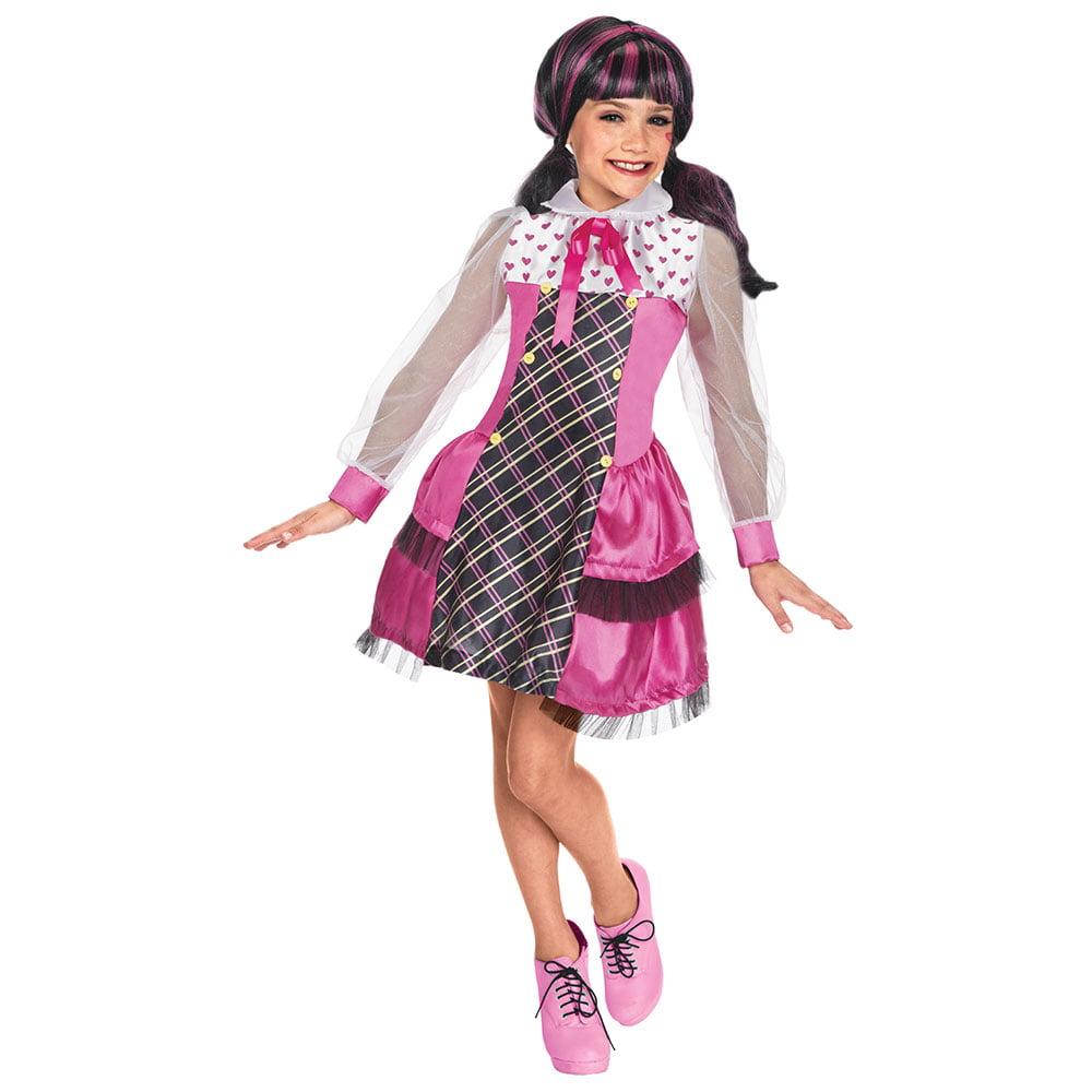 sc 1 st  Walmart & Girls Draculaura Monster High Halloween Costume - Walmart.com