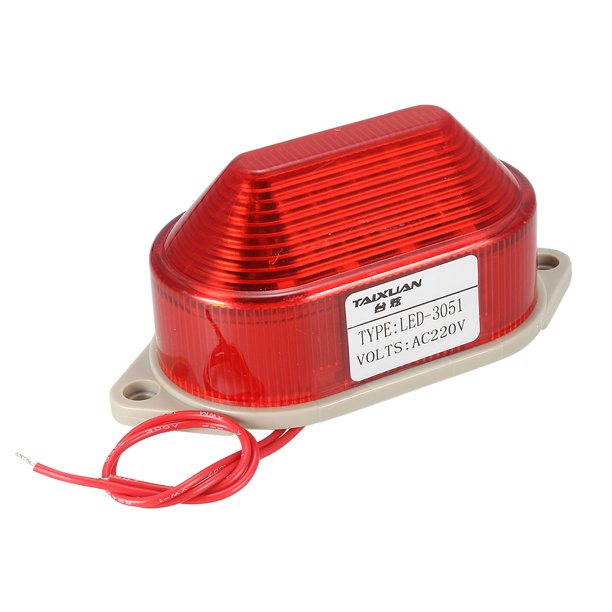 220V 3W School Industrial Emergency Red Flash Warning