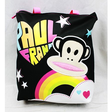 Tote Bag - Paul Frank - Black Rainbow Logo New Gifts Girls Hand Purse 82104 (Paul Fran)