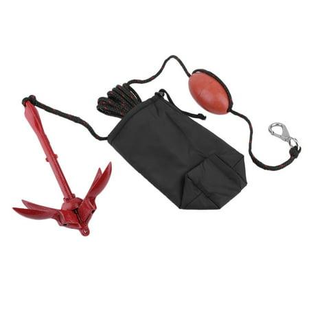 797 Anchor Kit - Portable Folding Anchor Buoy Kit Anchor Rigging System Set with Float Carrying Bag Rope Canoe Kayak Raft Boat Fishing Jet