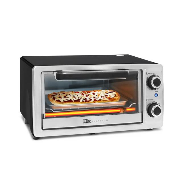 Maximatic Toaster 4-Slice Oven Broiler, Stainless Steel
