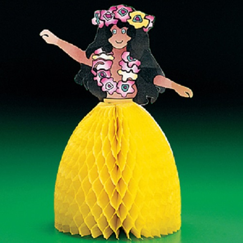 Lot of 2 Hula Girl Centerpiece Luau Table Party Decor