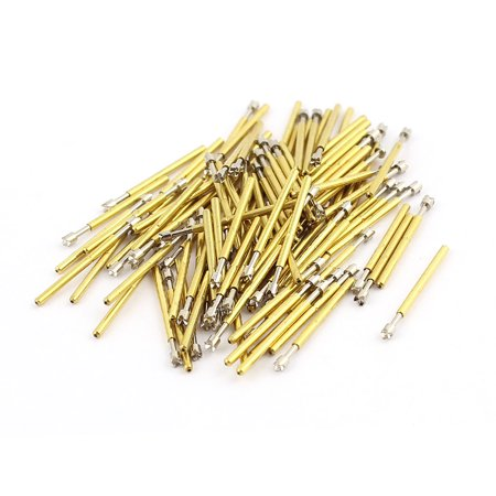 Unique Bargains 100Pcs P75-Q2 Dia 1.02mm Length 16.54mm 100g Spring Test Probe