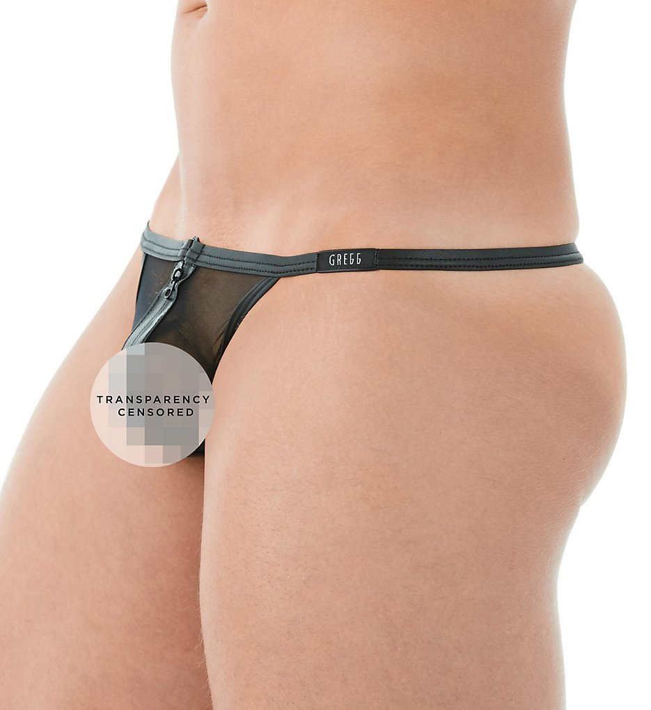 GREGG HOMME 142014 Break-In Sheer Mesh Zipper Front G-String