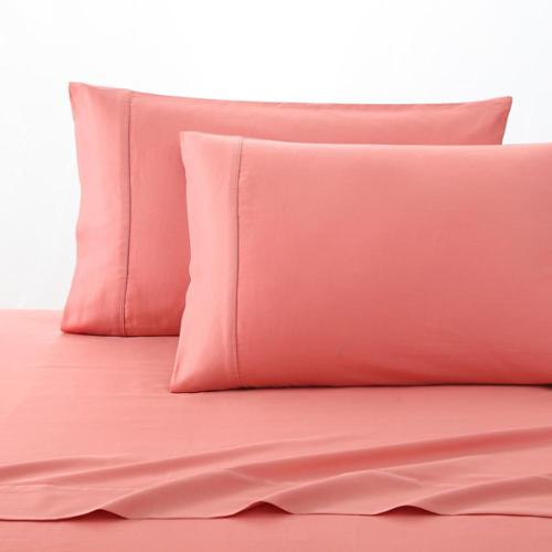 Fiesta 300 Thread Count Solid Color Cotton Sheet Sets King - Lemongrass