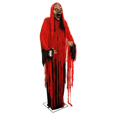 Halloween Haunter Giant 7ft Animated Standing Scary Death Reaper Prop Decoration