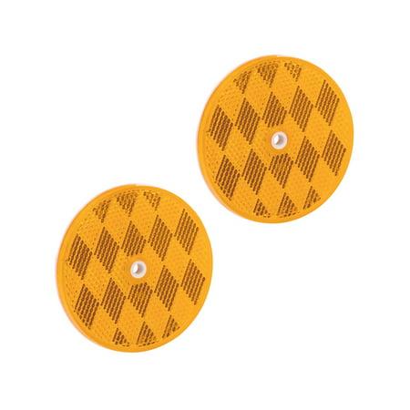 Bargman 74-68-020 Round Center-Mount Reflector - Amber,
