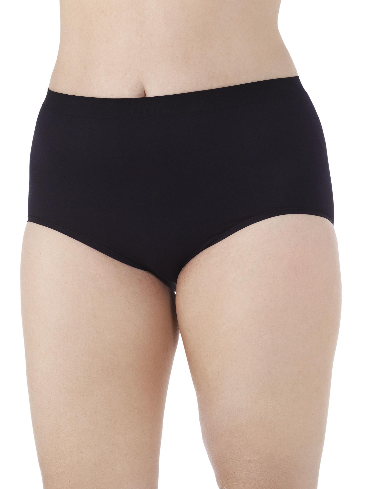 Women's Plus Seamless Brief Panties - 5 Pack