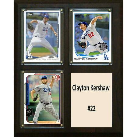 C&I Collectables MLB 8x10 Clayton Kershaw Los Angeles Dodgers 3-Card (Clayton Kershaw Plaque)