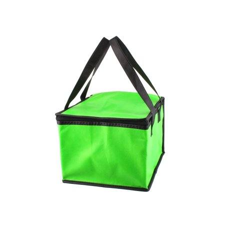 Outoor Green Square Insulated Food Drink Fruit Warmer Cooler Carry Tote Ice Bag Green Bag Fruit