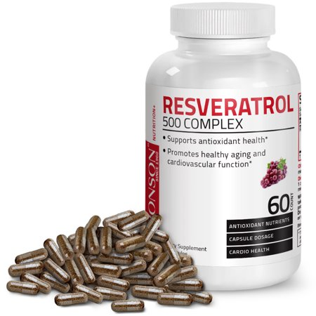 Resveratrol 500 Complex Red Wine Extract Natural Antioxidant Heart & Immune Health, 60