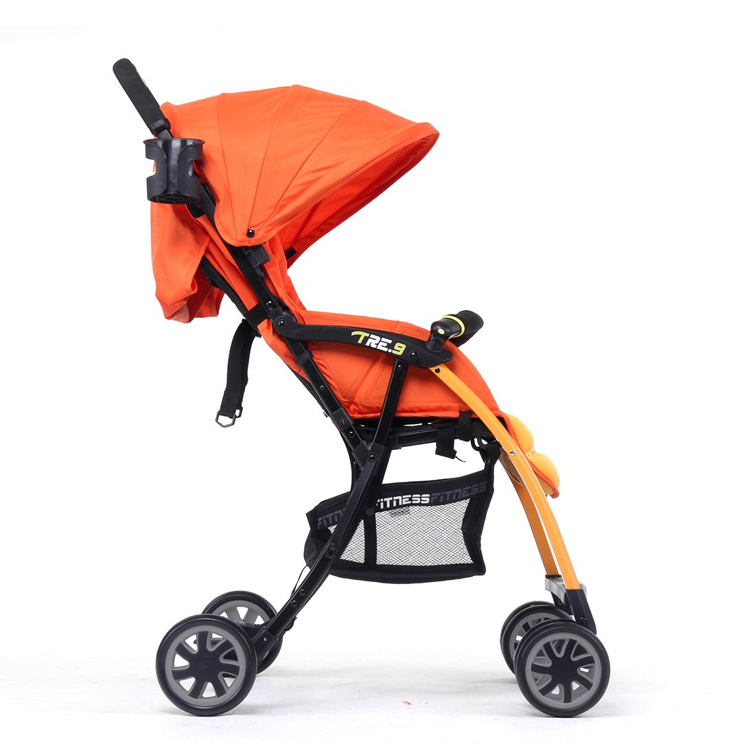 Pali Ultra Lightweight Tre.9 Stroller Fitness Fashion in Sao Paolo Orange - Only 11 lbs.
