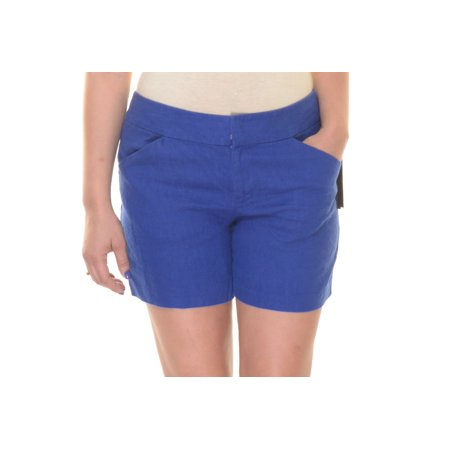 INC Goddess Blue Shorts  Size 8 NWT - Movaz (Goddess Clothing)