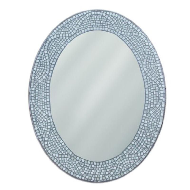 Head West Opal Mosaic Oval Mirror, 23 by 29-Inch by Overstock