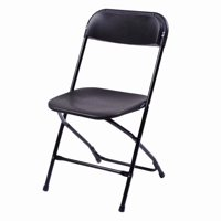Clearance! 5pcs Portable Plastic Folding Chairs Black