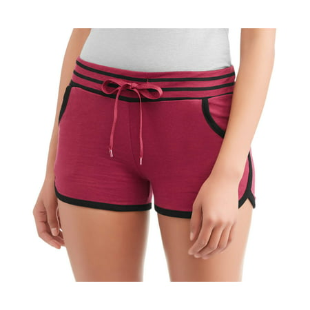 (Women's French Terry Striped Waistband Lounge Short)