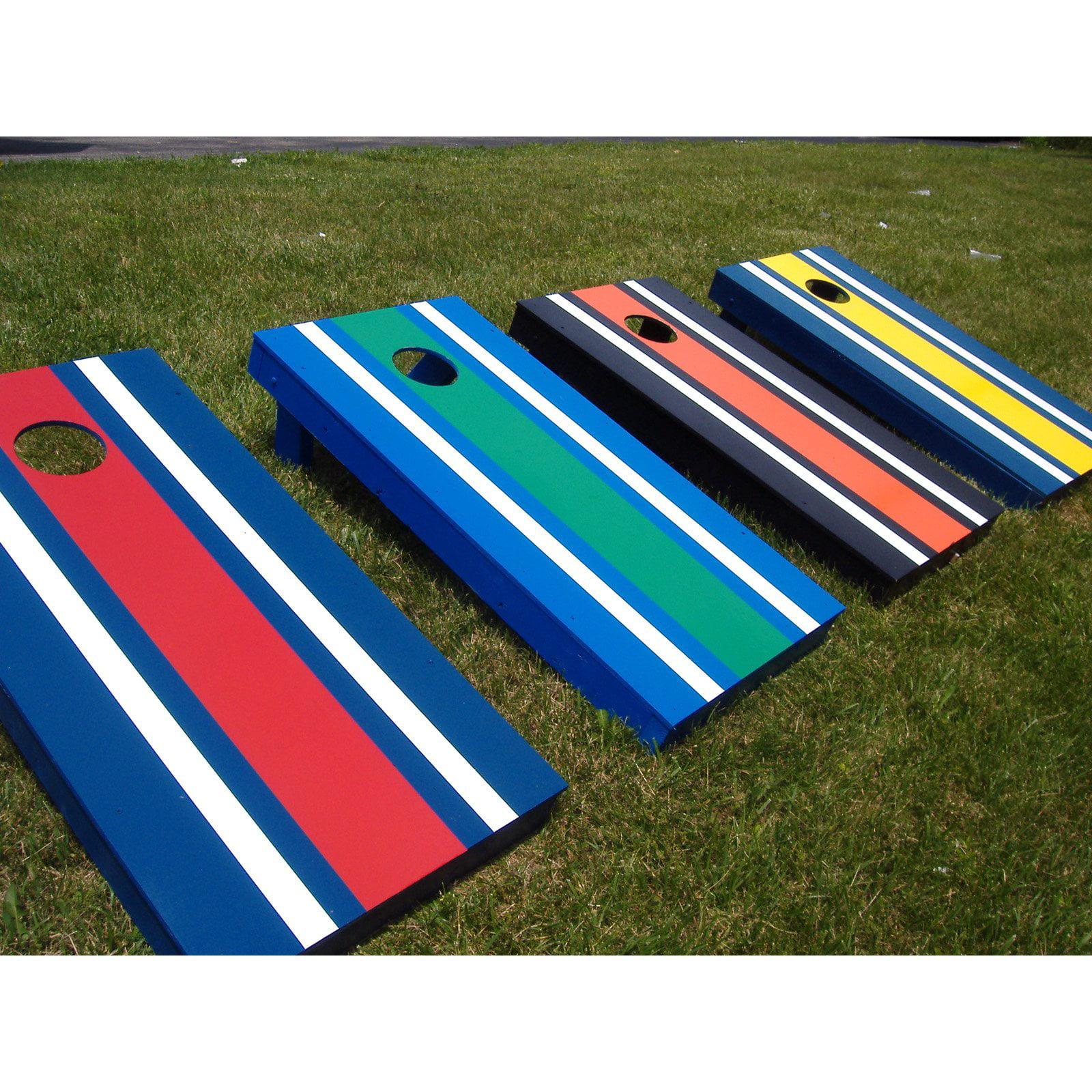 Striped Tournament Cornhole Set by AJJ Cornhole