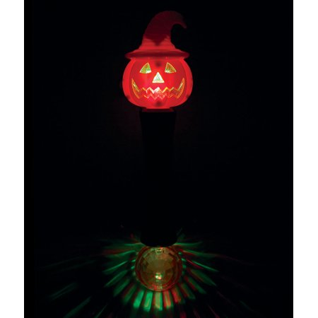 Fun Central (AU045) 1 pc LED Witchy Pumpkin Wand, Glowing Witch Wand, Light Up Wand, Glow Stick Wand (Glow Stick Wands)