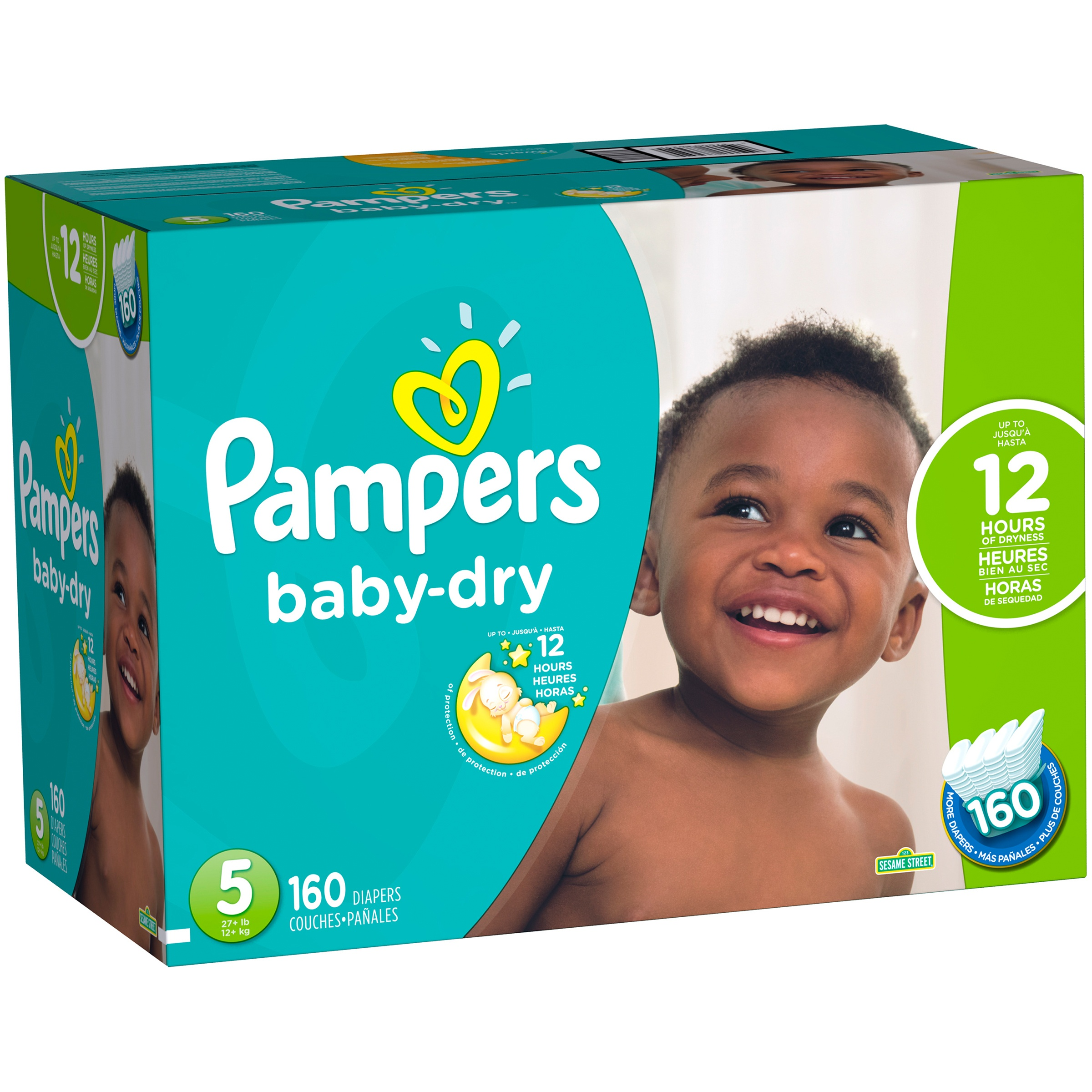 Pampers Baby Dry Diapers (Choose Diaper Size and Count)