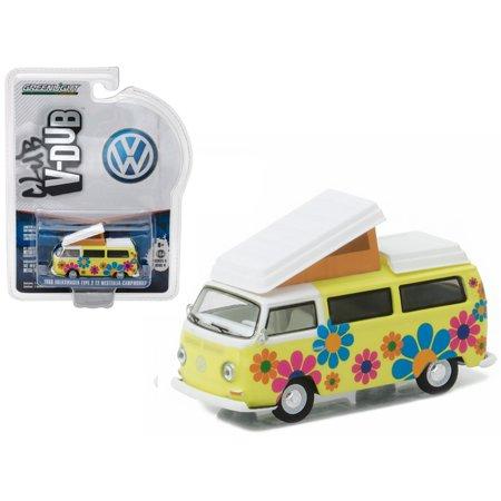 1968 Volkswagen Type 2 T2 Westfalia Campmobile Hippie Dippy Weather Van 1/64 Diecast Model by (Vane Type)