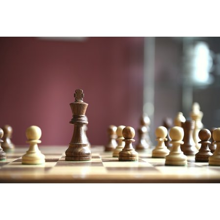 Framed Art for Your Wall Wooden Figures Game Board Chess Game Chess 10x13 Frame