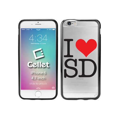 Cellet TPU/PC Proguard Case with I Love San Diego for Apple iPhone 6