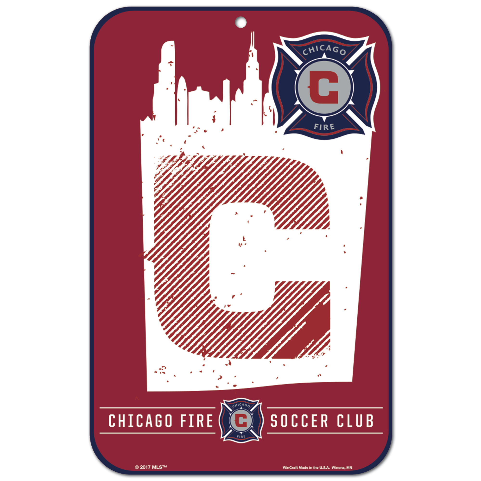 "Chicago Fire WinCraft 11"" x 17"" Reserved Parking Sign - No Size"