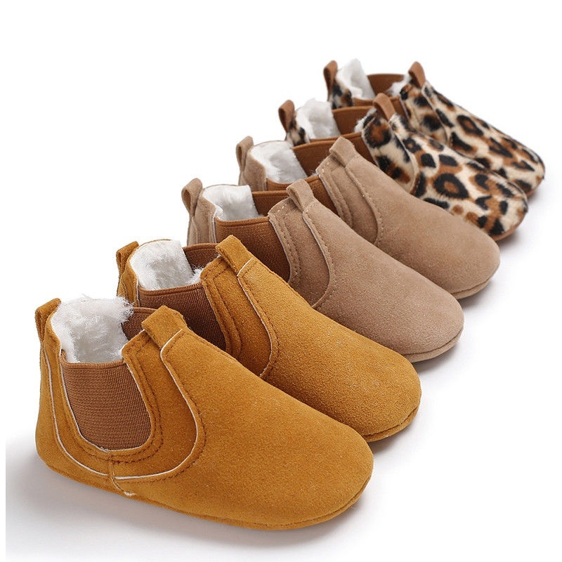 Newborn Baby Boy Princess Girl Crib Shoes Nubuck Leather Soft Prewalker Shoes