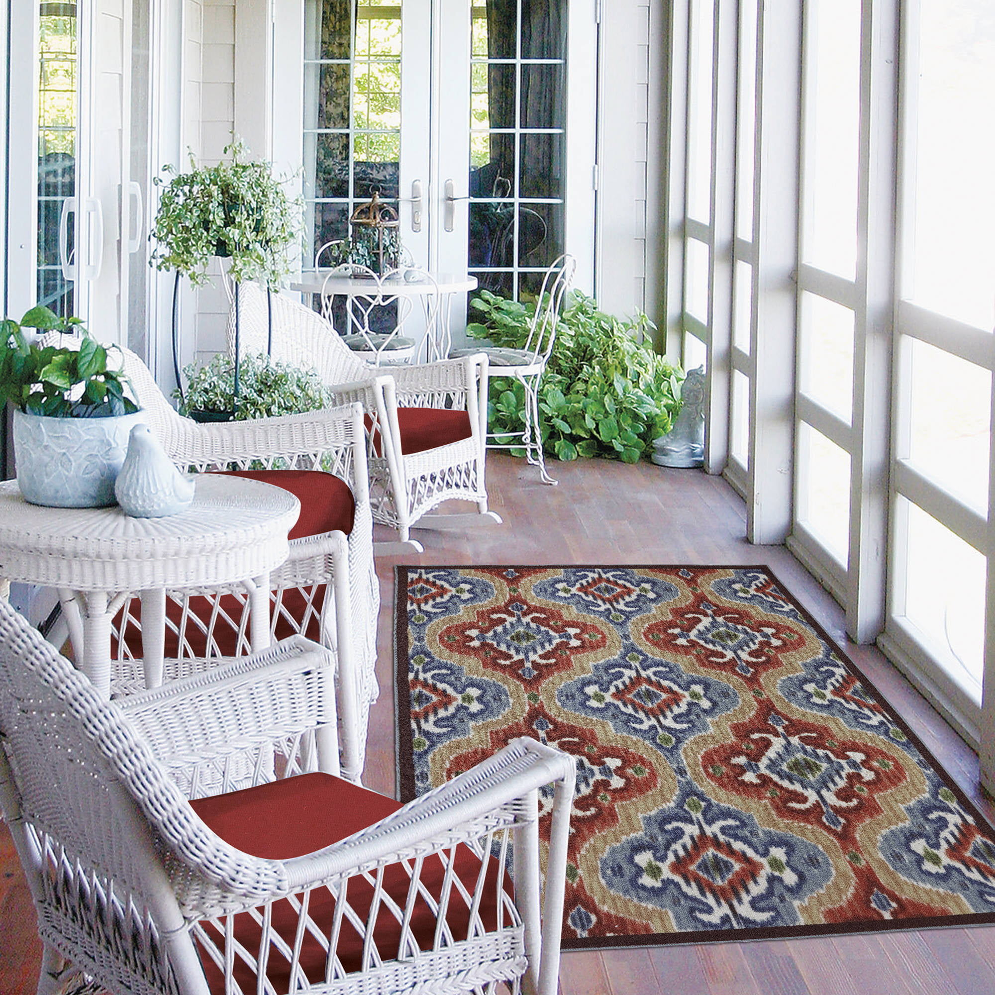 Attractive Mohawk Home Mystic Ikat Indoor/Outdoor Nylon Rug, Multi Colored    Walmart.com