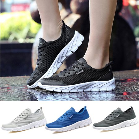 (2018 New Fashion Men Sport Casual Mesh Shoes Breathable Running Walking Fitness Athletic Sneaker)