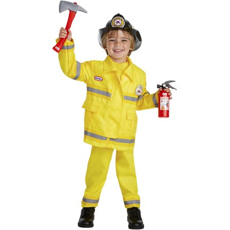 Little Tikes Fireman Fire Chief Toddler Costume With Tools](Toddler Fireman Costumes)