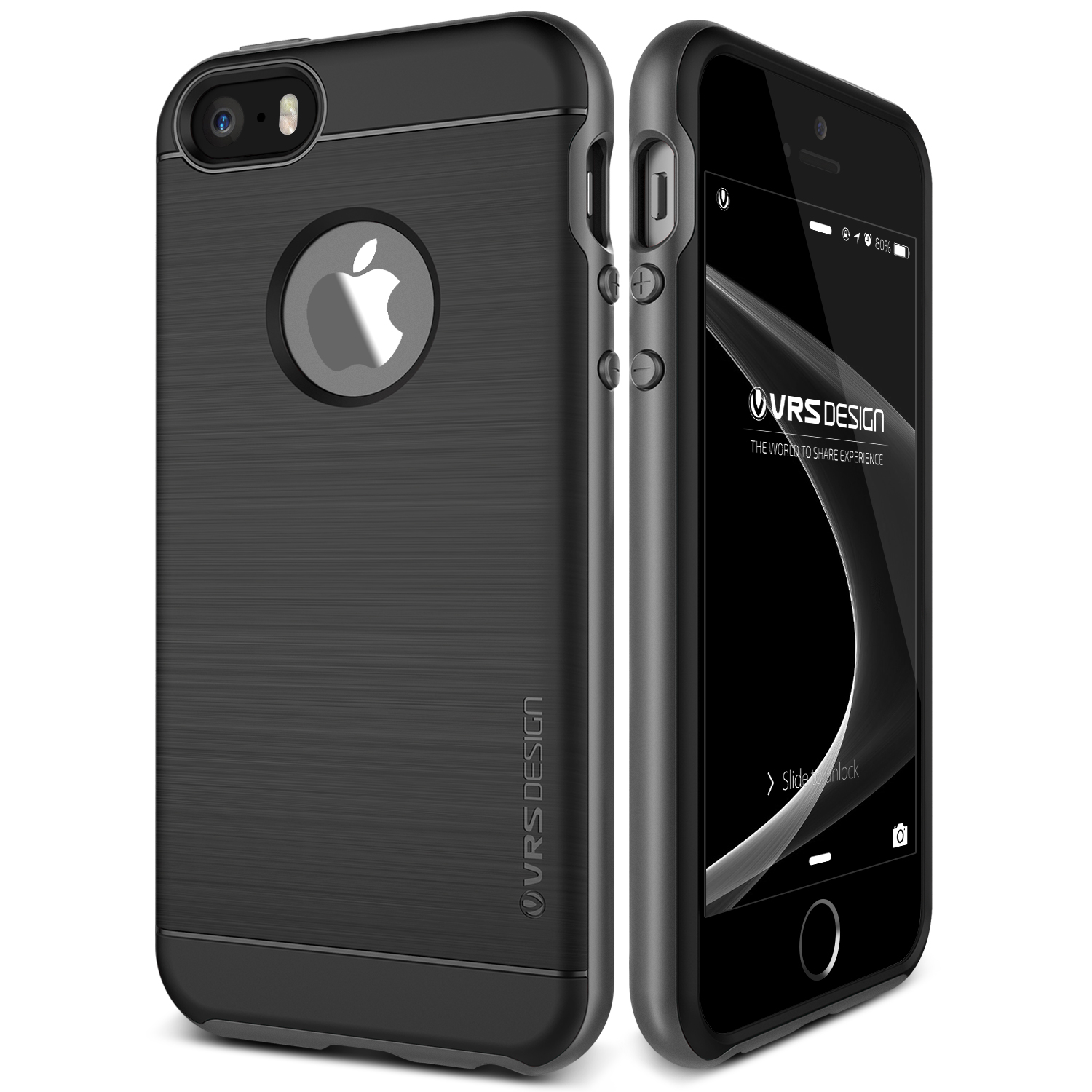 iPhone SE Case Soft Cover Case by VRS Design High Pro Shield Series, Steel Silver