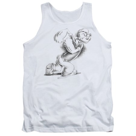 Popeye Here Comes Trouble Mens Tank Top Shirt