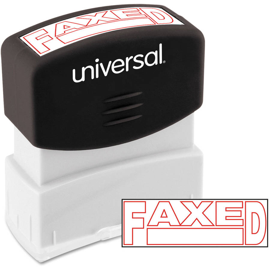 Universal Message Stamp, FAXED, Pre-Inked One-Color, Red