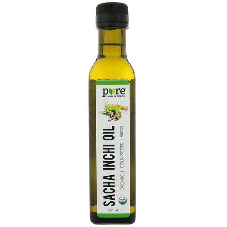 Pure Indian Foods  Organic Cold Pressed Virgin Sacha Inchi Oil  250 (250 Ml Food)