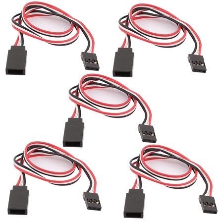 5Pcs 300mm 3 Pin M/F RC Servo Extension Cord Cable Wire f RC (3 Wire Servo)