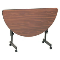 Correll Deluxe Flip Top Table - High Pressure Top - 24x48 Half Round