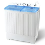 Zeny Portable Compact Mini Twin Tub Washing Machine - Large Capacity Built-in Gravity Dryer Separate Washer(Dual, 17.6lbs)