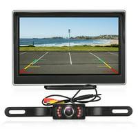AUTO Digital Backup Camera Kit, Stable Signal Rear View Monitor and Reverse Camera Kit, Night Vision, IP 68 Waterproof with 5'' LCD Monitor 12V-24V for Trucks, RVs, Vans, Trailer,Camping Cars