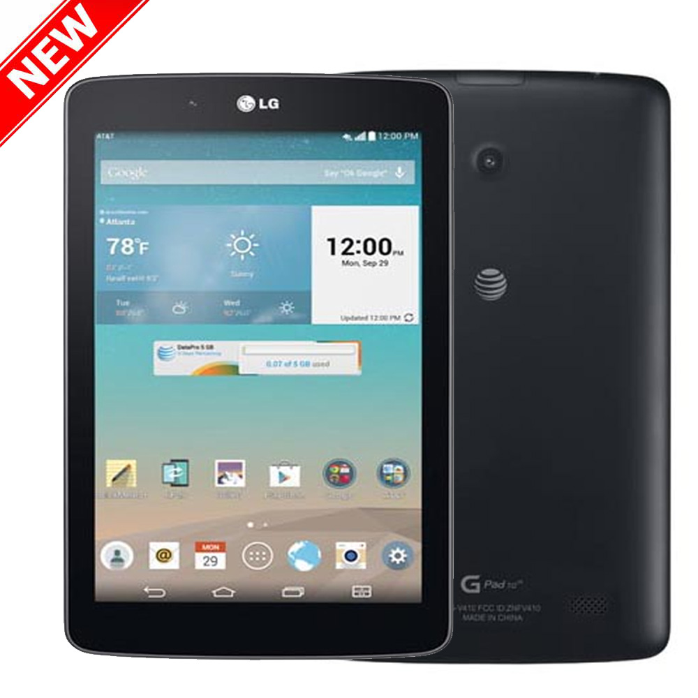 "New G Pad 16GB V410 GSM Unlocked 4G LTE 7"" HD+ IPS 5MP Android Tablet PC - Dark Gray by LG"