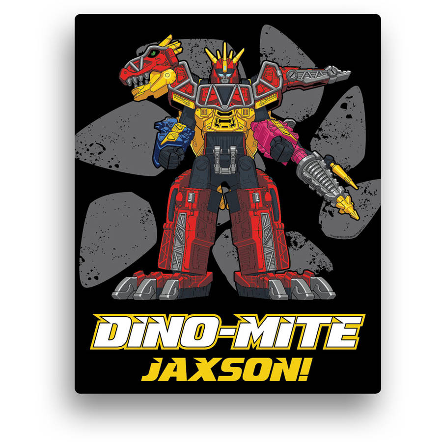 "Personalized Power Rangers Dino Charge Megazord 11"" x 14"" Canvas Wall Art"