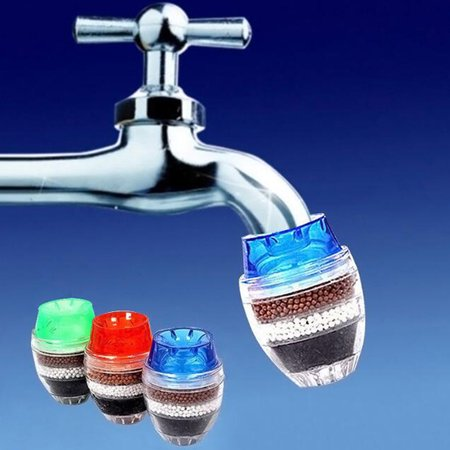 1pc Coconut Carbon Home Kitchen Restaurant Faucet Tap Multi Layers Water Clean Purifier Filter