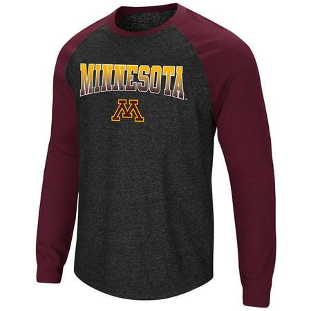 Mens Minnesota Golden Gophers Long Sleeve Raglan Tee Shirt - M