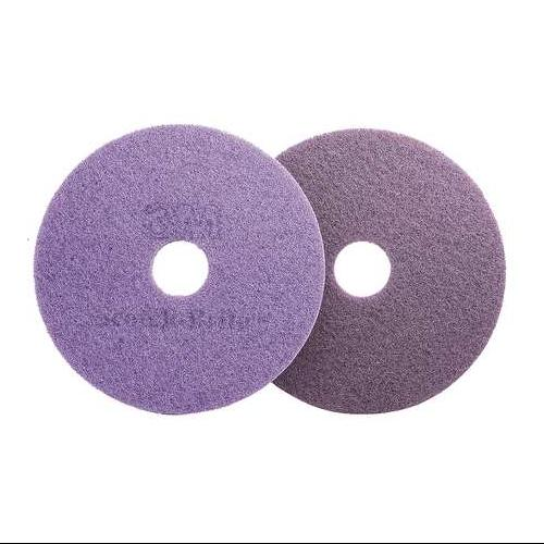 3M 47946 Diamond Floor Pad Plus,13 In,Purple,PK 5