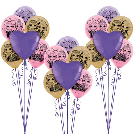 Balloon And Ribbons (L.O.L. Surprise! Balloon Supplies, Include Latex and Foil Balloons and)