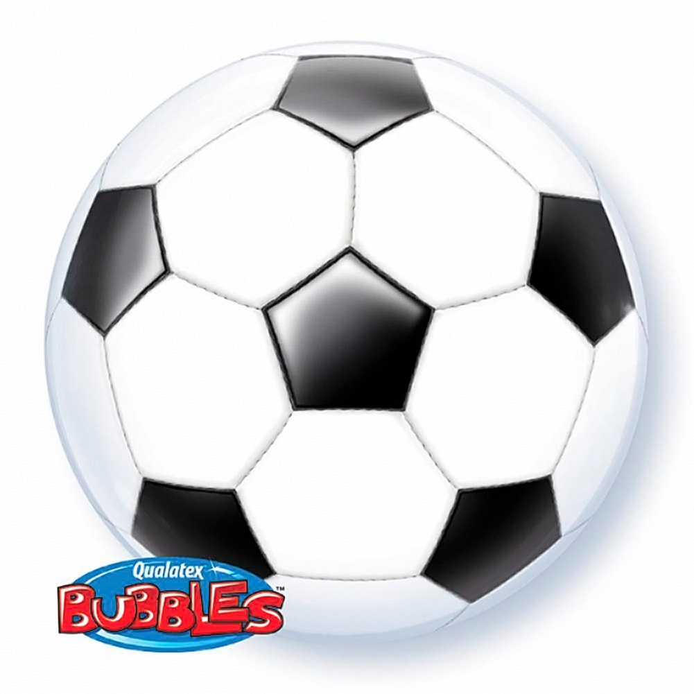 "Qualatex FIFA Classic Soccer Ball Design 22"" Bubble Balloon, White Black by Pioneer Balloon Company"