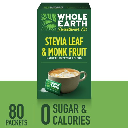 (160 Packets) Whole Earth Sweetener for Coffee & Tea, Sugar Substitute, Zero Calorie Sweetener